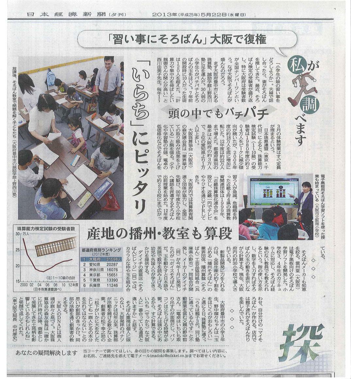 日経新聞20130522