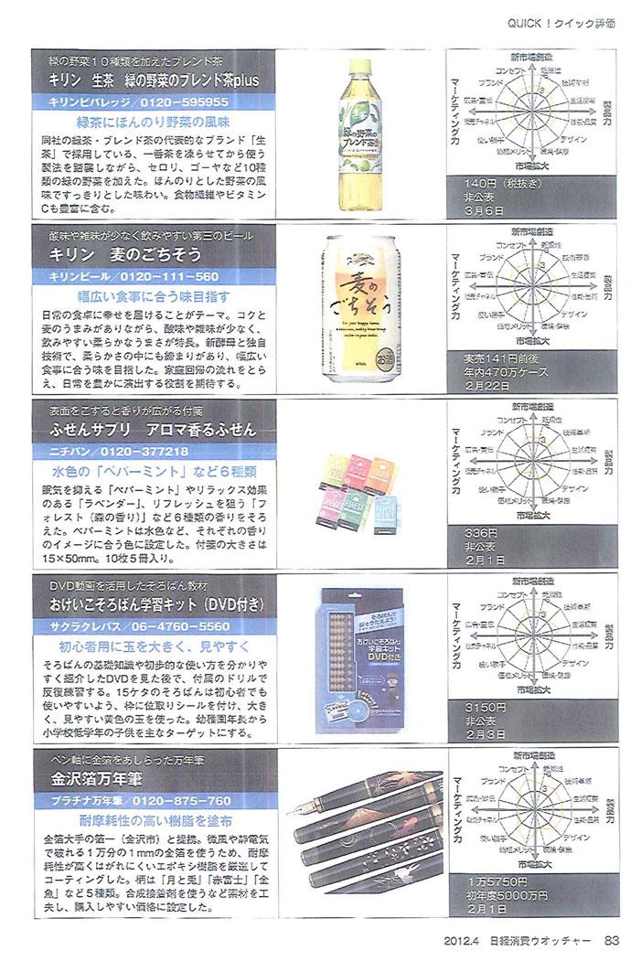 日経消費ウォッチャー4月号