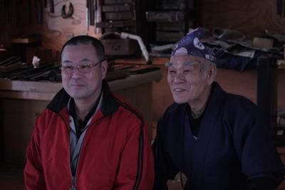 2代目雲文さんと石原長蔵さん 2009年1月
