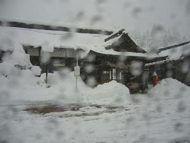 横田駅 2009年1月 大雪